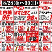 【2015年8月28日~8月31日月末大売出し!】