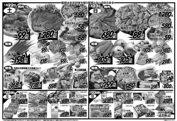 ドラゴン広告チラシ20110121裏