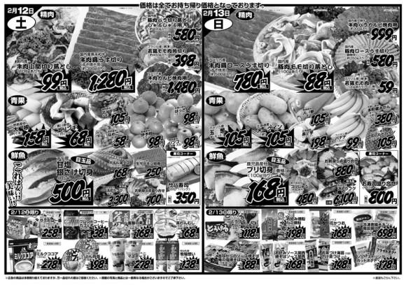 ドラゴン広告チラシ20110211裏