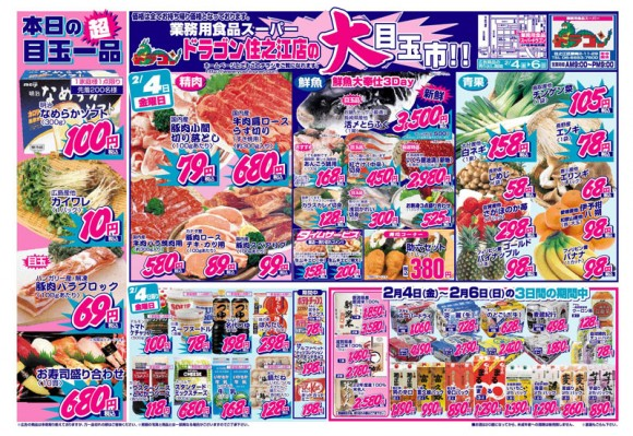 ドラゴン広告チラシ20110204表