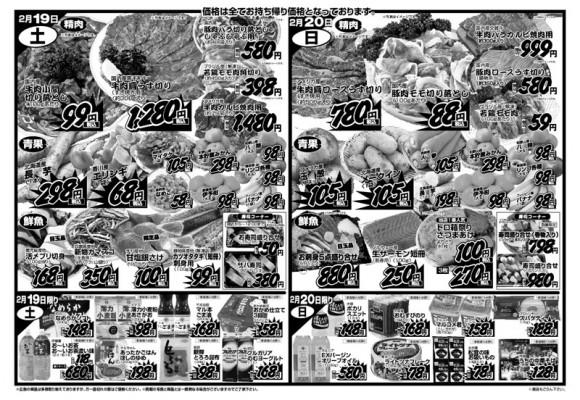 ドラゴン広告チラシ20110218裏