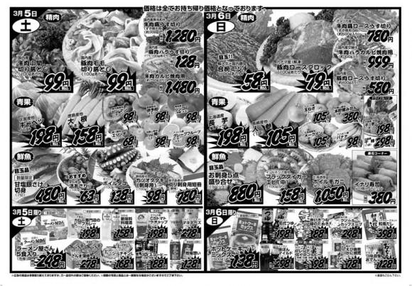 ドラゴン広告チラシ20110306裏