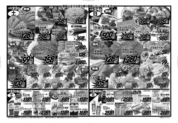 ドラゴン広告チラシ20110422裏