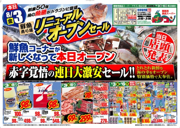 ドラゴン広告チラシ20120803表800