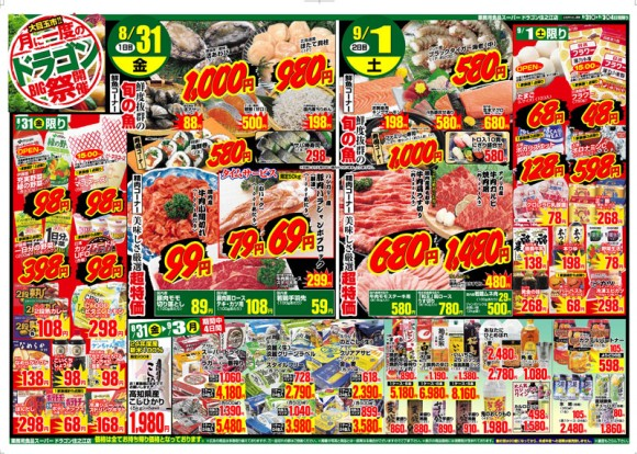 ドラゴン広告チラシ20120831表800
