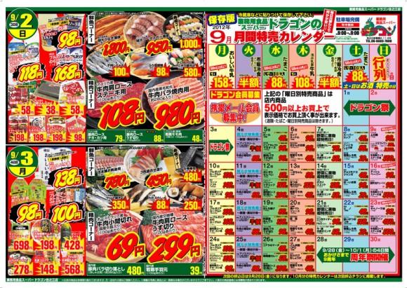 ドラゴン広告チラシ20120831裏800