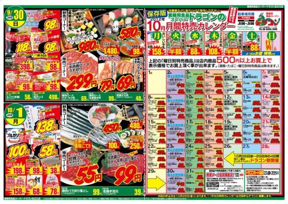 ドラゴン広告チラシ20120928裏800