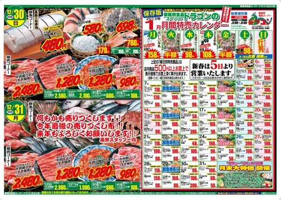 ドラゴン広告チラシ20121229裏