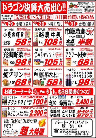 ドラゴン広告チラシ20130529表800