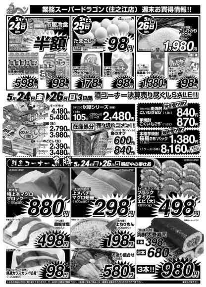 ドラゴン広告チラシ20130524裏800