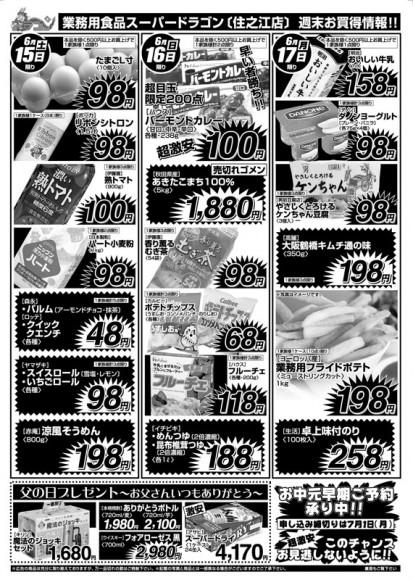 ドラゴン広告チラシ20130615裏800