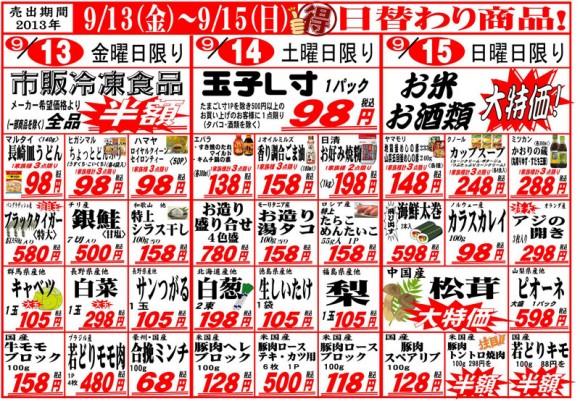 ドラゴン広告チラシ20130913表800