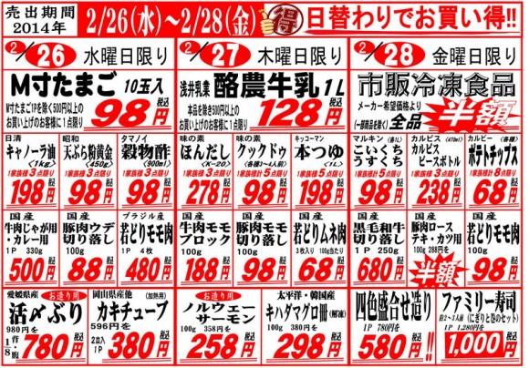 ドラゴン広告チラシ20140226表800