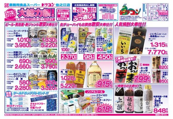 ドラゴン広告チラシ20140621表800