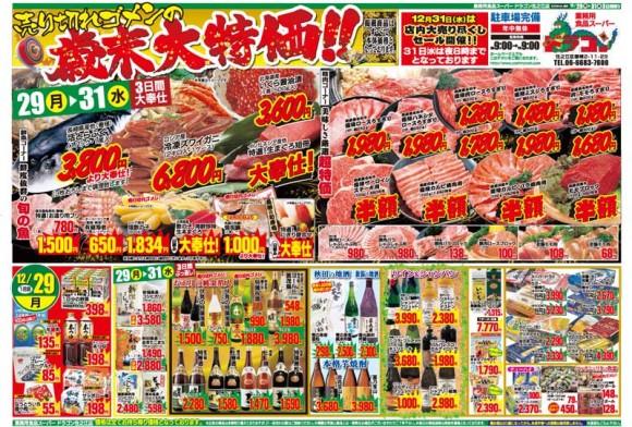 ドラゴン広告チラシ20141229表800