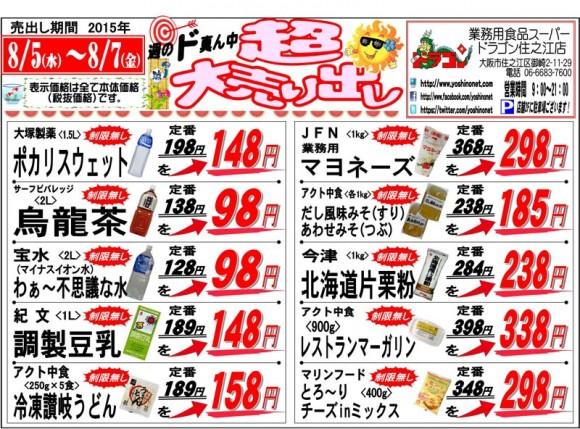 ドラゴン広告チラシ20150805表800
