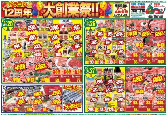ドラゴン広告チラシ20150925表800