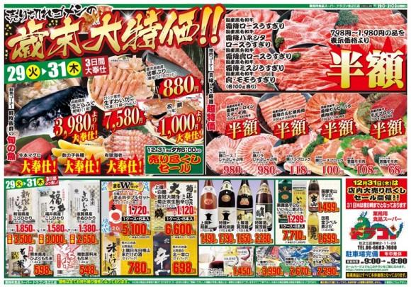 ドラゴン広告チラシ20151229表800